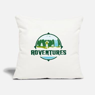 "Logo Adventures Logo - Throw Pillow Cover 18"" x 18"""