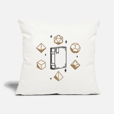 "Cube roleplay dice occult spiritual symbols - Throw Pillow Cover 18"" x 18"""