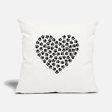 Heart of paw - Throw Pillow Cover