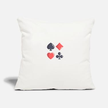 "Game Retirement Plan Play Poker Casino Party Gambling - Throw Pillow Cover 18"" x 18"""