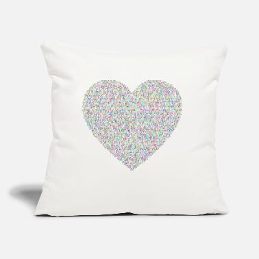 "Flecked Justice And Peace Heart Prismatic - Throw Pillow Cover 18"" x 18"""