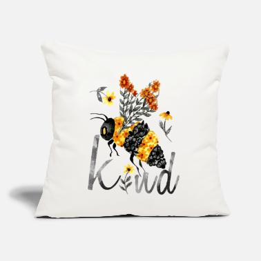 Homedecor bee kind floral bee limited edition girlfriend - Throw Pillow Cover