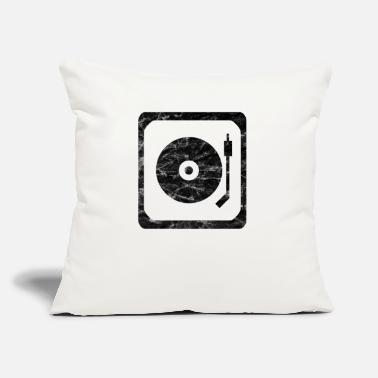 "Turntable Turntables - Throw Pillow Cover 18"" x 18"""