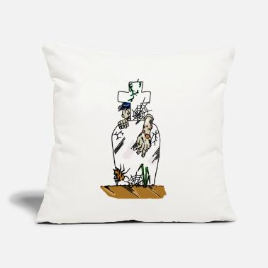 "Grave grave - Throw Pillow Cover 18"" x 18"""
