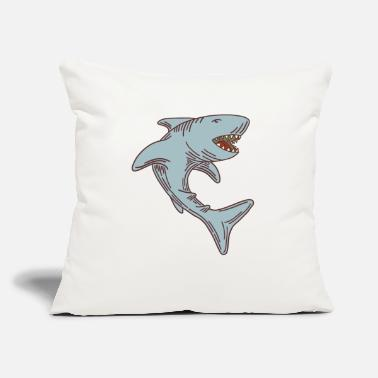 Grey Grey Shark - Throw Pillow Cover