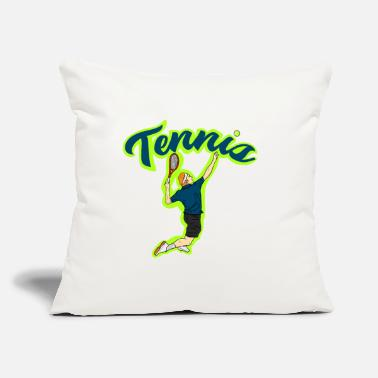 "Tennis Tennis Tennis Tennis - Throw Pillow Cover 18"" x 18"""