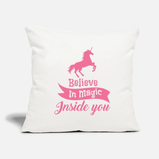 "Gay Pride Pillow Cases - unicorns - Throw Pillow Cover 18"" x 18"" natural white"