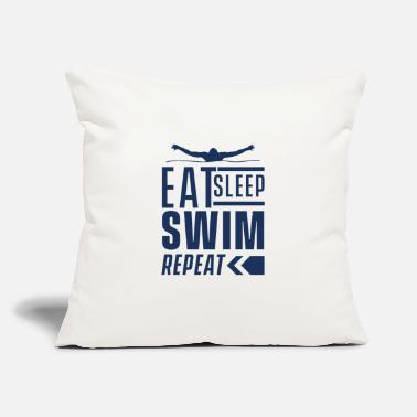 "Swim Swimming Swimming Swimming Swimming - Throw Pillow Cover 18"" x 18"""