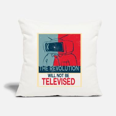 "Revolution the revolution will not be - Throw Pillow Cover 18"" x 18"""