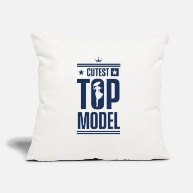 "Model Modeling Modeling Modeling Modeling - Throw Pillow Cover 18"" x 18"""