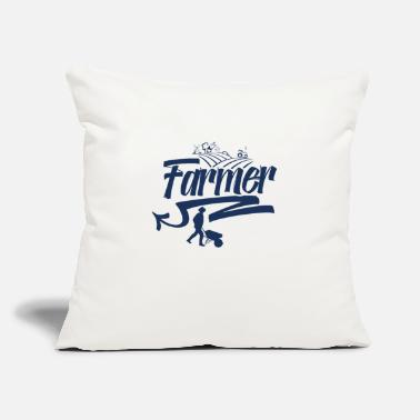 "Farm Farming Farming Farming Farming - Throw Pillow Cover 18"" x 18"""
