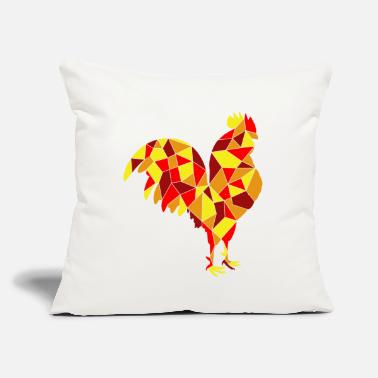 "Im Loco geometric Rooster chicken gift tee - Throw Pillow Cover 18"" x 18"""