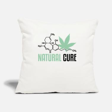 "Oil Natural Cure | Cannabidiol Oil, CBD Oil - Throw Pillow Cover 18"" x 18"""