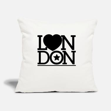 "London London London London - Throw Pillow Cover 18"" x 18"""