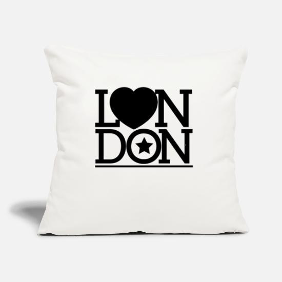 "My City Pillow Cases - London London London - Throw Pillow Cover 18"" x 18"" natural white"