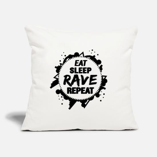"Raver Pillow Cases - Rave - Throw Pillow Cover 18"" x 18"" natural white"