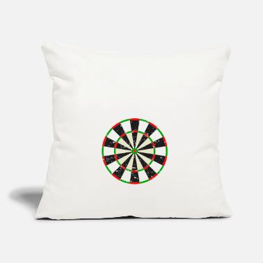 "Never Underestimate An Old Man Who Plays Darts Tee - Throw Pillow Cover 18"" x 18"""