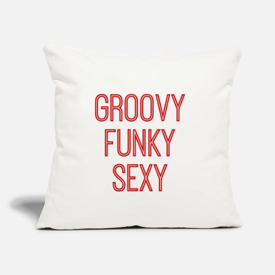 "Flower Power Pillow Cases - Groovy Funky Sexy - Throw Pillow Cover 18"" x 18"" natural white"