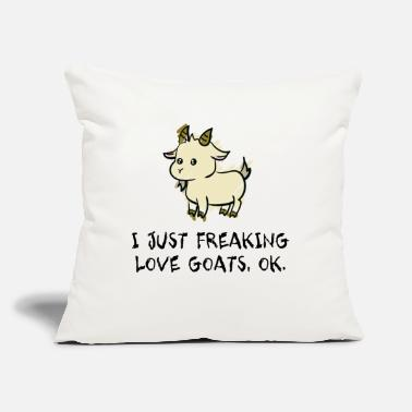 "Goat I Love Goats - Throw Pillow Cover 18"" x 18"""