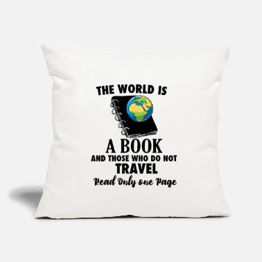 "Travel Bug Book Travel Travel Bug reading world travel - Throw Pillow Cover 18"" x 18"""