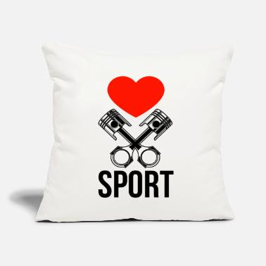 "Motorsport motorsports - Throw Pillow Cover 18"" x 18"""