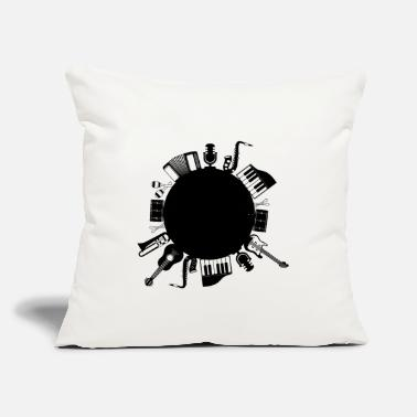"Musical Instruments Musical instruments - Throw Pillow Cover 18"" x 18"""
