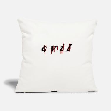 "Evil evil - Throw Pillow Cover 18"" x 18"""