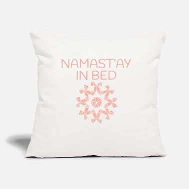 "New Age Namaste Yoga Pattern - Throw Pillow Cover 18"" x 18"""
