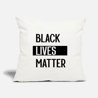 "Obama Simple Black Lives Matter in Black and White - Throw Pillow Cover 18"" x 18"""