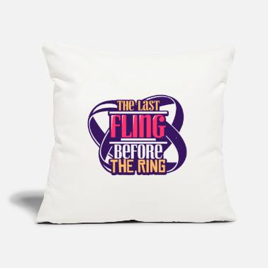 "Wedding Party Bachelor Party Wedding - Throw Pillow Cover 18"" x 18"""