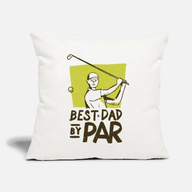 "Best Golf Dad - Throw Pillow Cover 18"" x 18"""