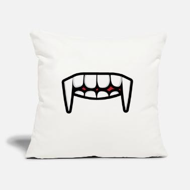 "Nose face mask mask face tooth mouth - Throw Pillow Cover 18"" x 18"""