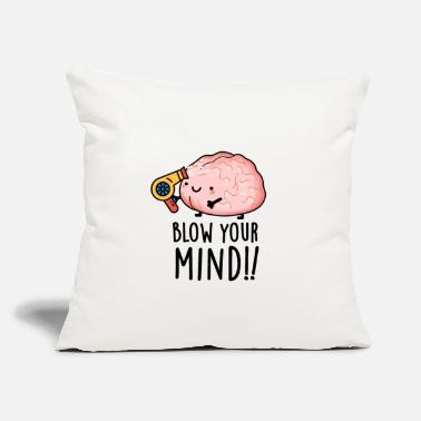 "Funny Blow Your Mind Cute Brain Pun - Throw Pillow Cover 18"" x 18"""