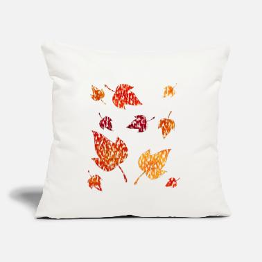 "Pile autumn leaves - Throw Pillow Cover 18"" x 18"""