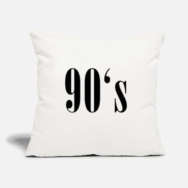 "90 90s 90's nineties - Throw Pillow Cover 18"" x 18"""