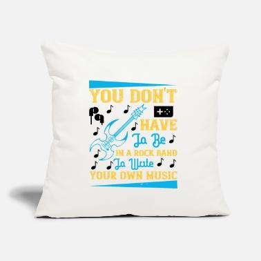 "Techno You Don't Have To Be In A Rock Band - Throw Pillow Cover 18"" x 18"""