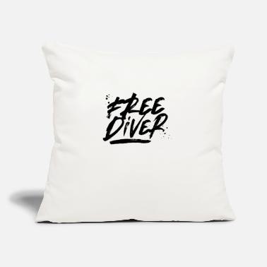 "Diver Freediver Freediving Free Diving Apnea Diver - Throw Pillow Cover 18"" x 18"""