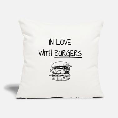 "Burger Burgers - Throw Pillow Cover 18"" x 18"""