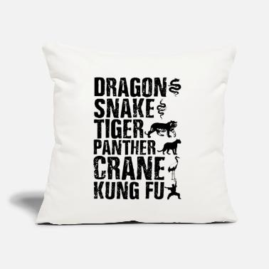 "Judo Dragon Snake Tiger Panther Kung Fu Martial Arts - Throw Pillow Cover 18"" x 18"""