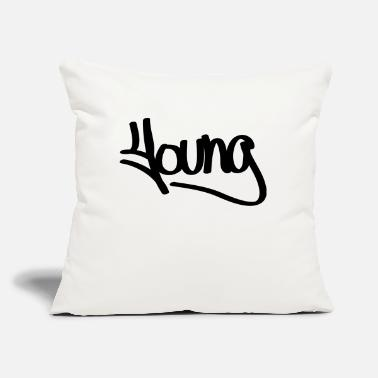 "Young young - Throw Pillow Cover 18"" x 18"""