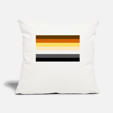 "Gay Flag Bear Brotherhood flag Gay Flag - Throw Pillow Cover 18"" x 18"""
