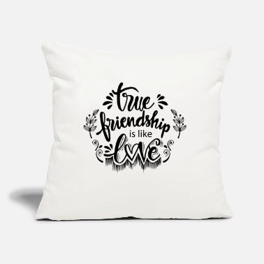 "Curlicue true friendshipis like love - Throw Pillow Cover 18"" x 18"""