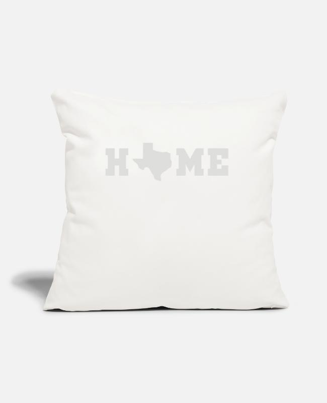 "Homepage Pillow Cases - Home Texas Map - Throw Pillow Cover 18"" x 18"" natural white"