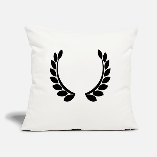 "Icon Pillow Cases - crest - Throw Pillow Cover 18"" x 18"" natural white"