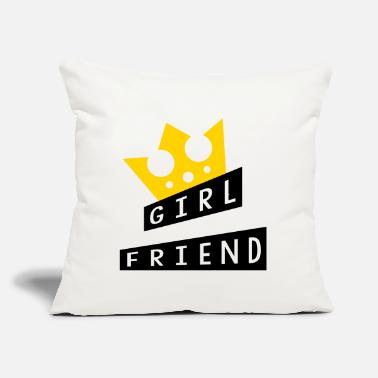 "Romantic Joke Darling Girlfriend - Love - Throw Pillow Cover 18"" x 18"""