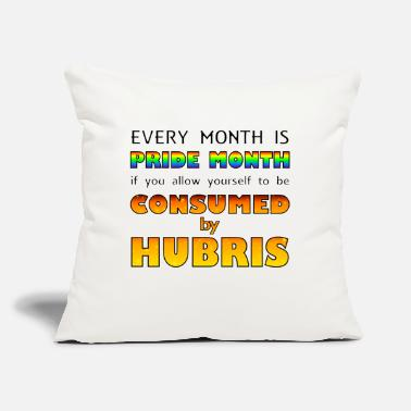 "Consumer Consumed By Hubris - Throw Pillow Cover 18"" x 18"""