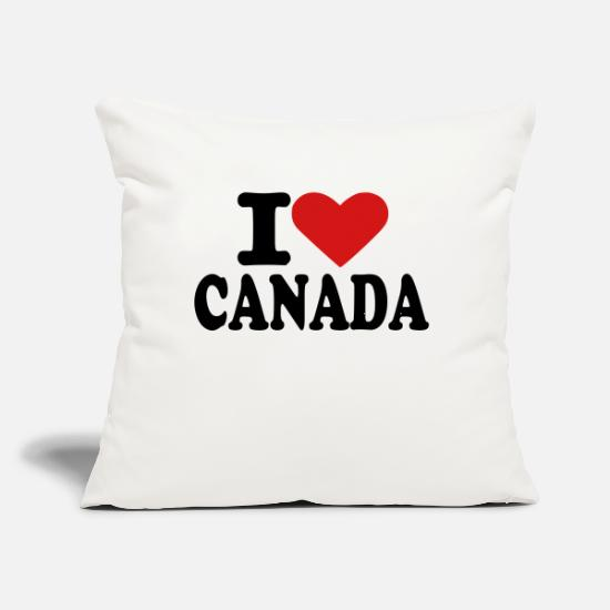 "Canada Pillow Cases - Canada - Throw Pillow Cover 18"" x 18"" natural white"