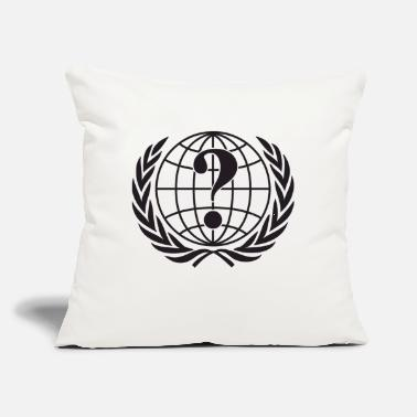 "Anonymous Anonymous - Throw Pillow Cover 18"" x 18"""