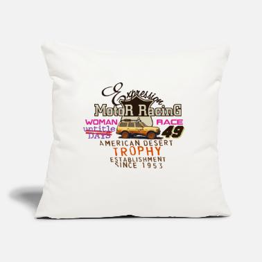 "Motor Race motor racing - Throw Pillow Cover 18"" x 18"""