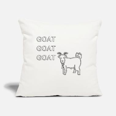 "Goat Goat Goat Goat - Throw Pillow Cover 18"" x 18"""